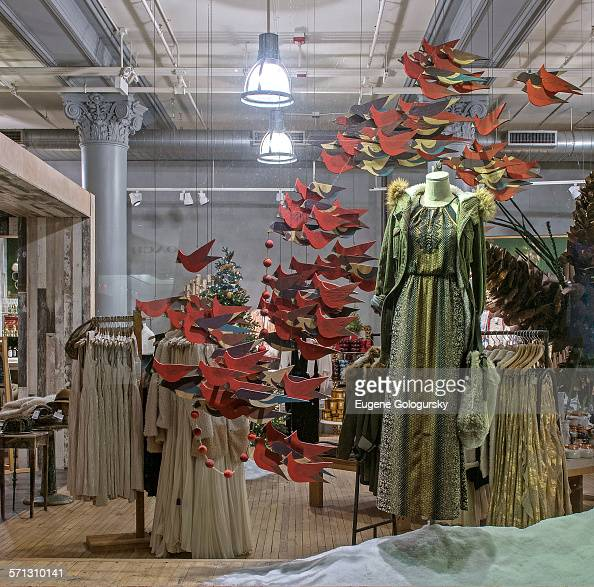 anthropologie window display new york united states pictures getty images. Black Bedroom Furniture Sets. Home Design Ideas