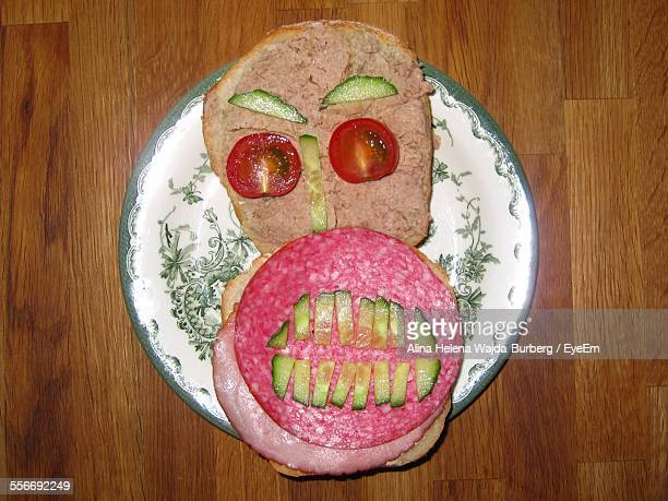 Anthropomorphic Face On Sandwich