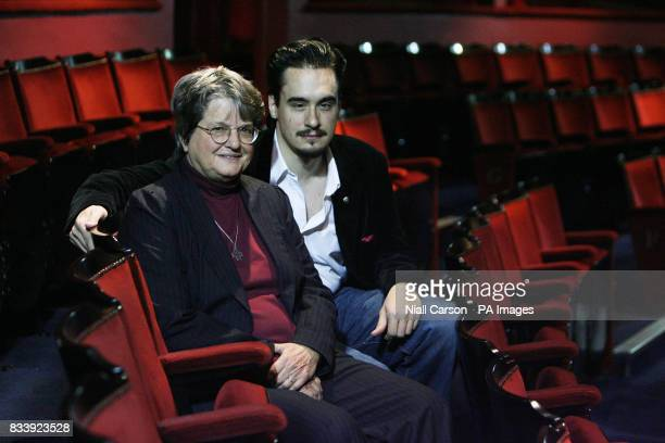 Anti death penalty campaigner Sister Helen Prejean who wrote the book Dead Man Walking with Actor Marcus DeLoach who plays death row inmate Joseph De...