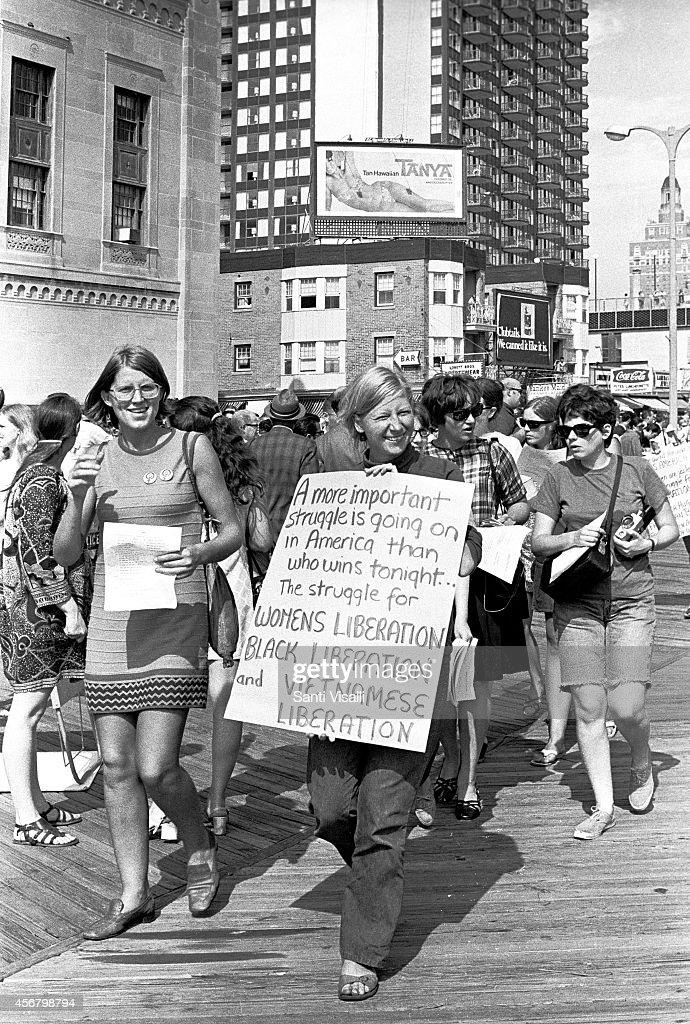 Anti Miss America Demonstration on September 7 1968 in Atlantic City New Jersey