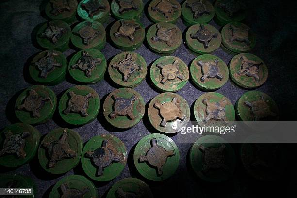 Anti personnel landmines which are believed to have been planted by the Syrian army on the border with Lebanon to prevent people from crossing in and...