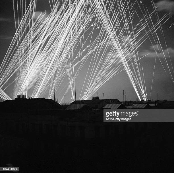 Antiaircraft fire over Algiers during a night raid 23 November 1942