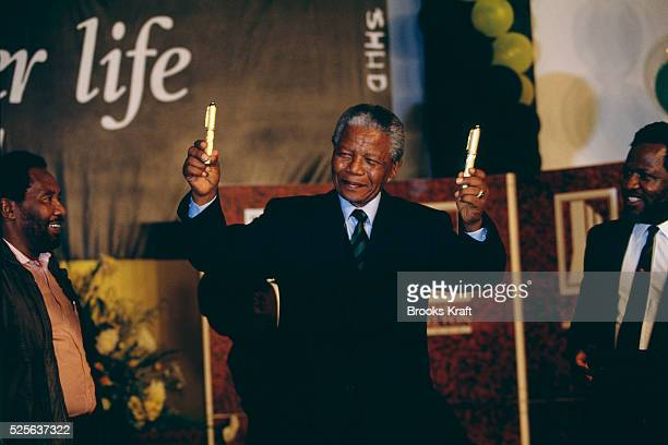 Antiapartheid activist and the leader of Umkhonto we Sizwe the revolutionary wing of the socialist African National Congress Nelson Mandela...