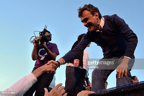 Antiausterity political party Podemos and candidate for Madrid's regional presidency Jose Manuel Lopez during quotAhora Madridquot citizen platform's...