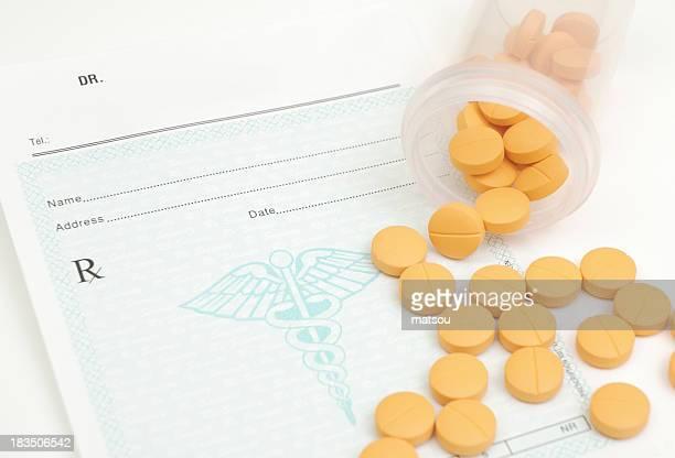 Pilules aux antibiotiques.