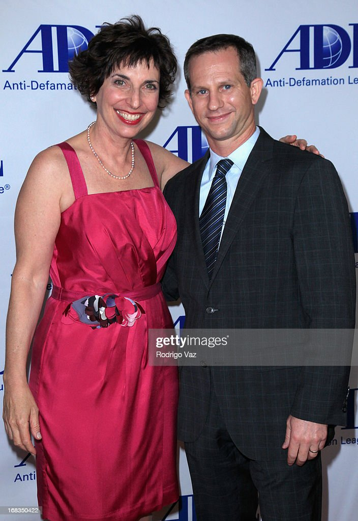 Anti-Defamation League Regional Director Amanda Susskind (L) and Regional Board Chair Seth Gerber arrive at the Anti-Defamation League Centennial Entertainment Industry Awards Dinner at The Beverly Hilton Hotel on May 8, 2013 in Beverly Hills, California.