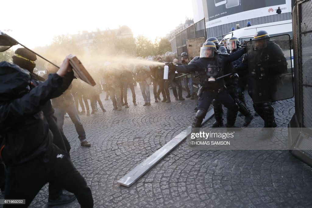 Election Results Met With Violence in Paris