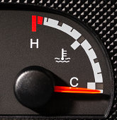 car antifreeze gage, cold