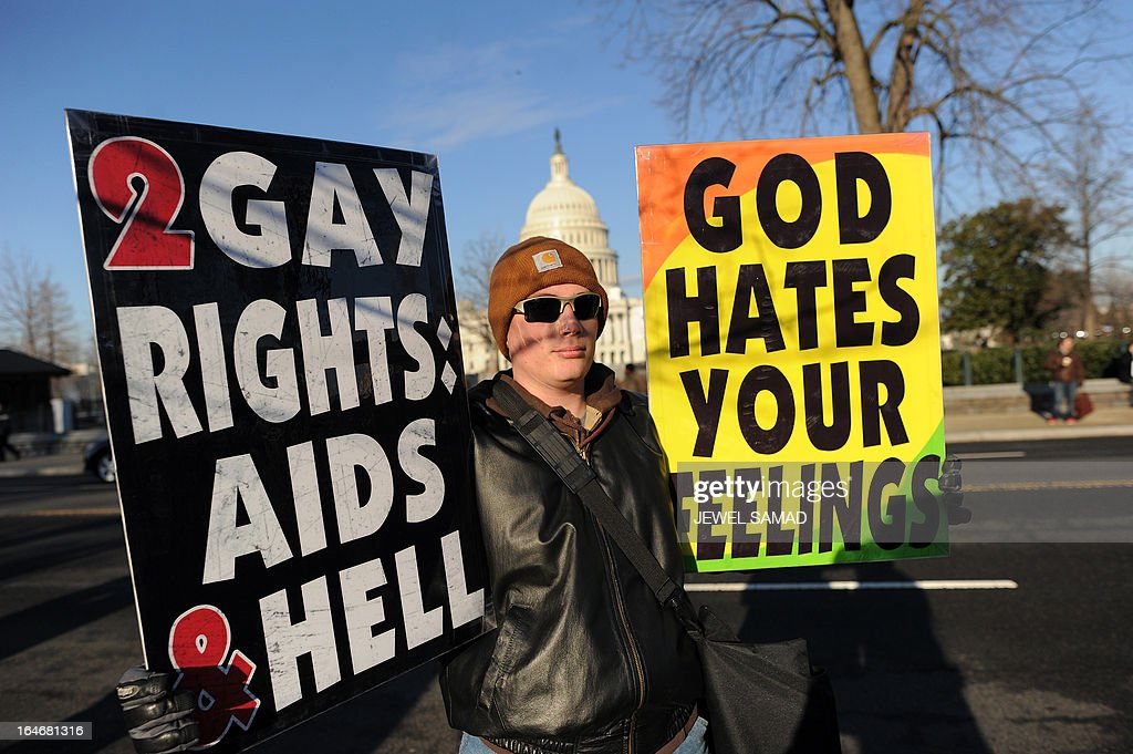 against gay marriage
