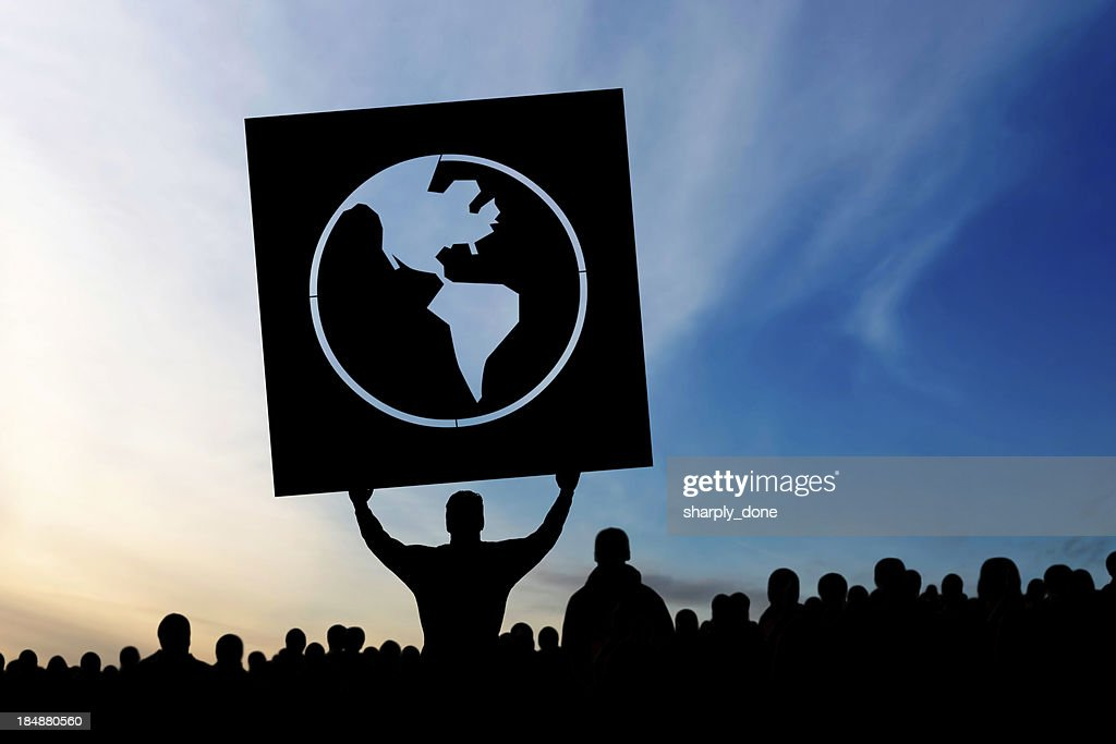 XXXL anti-globalization protestors
