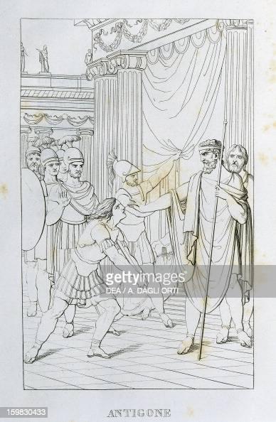 Antigone illustration from The Tragedies of Vittorio Alfieri engraving edition of 1820 Milan Biblioteca Nazionale Braidense