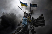 Antigovernment protesters continue to their clash with police in Independence square despite a truce agreed between the Ukrainian president and...