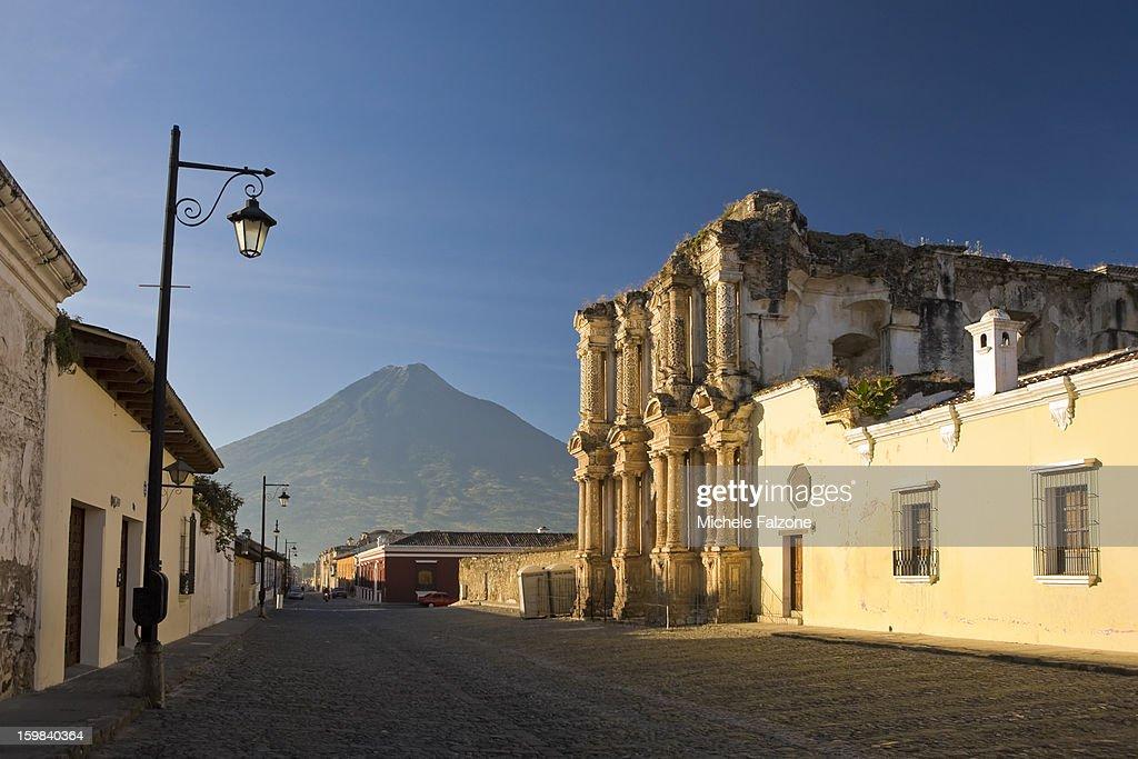 Antigua Old Town, Guatemala : Stock Photo