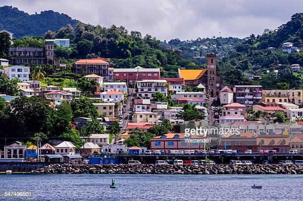 Antilles, Lesser Antilles, Grenada, view to St. Georges