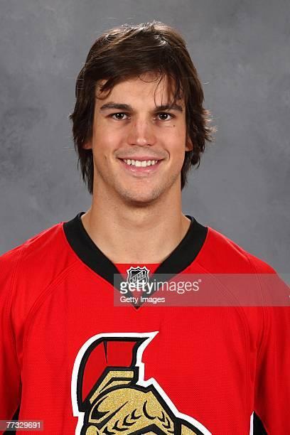 Antione Vermette of the Ottawa Senators poses for his 2007 NHL headshot at photo day in Ottawa Ontario Canada