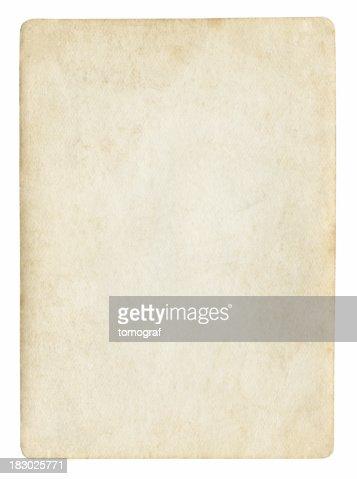 古いブランク紙