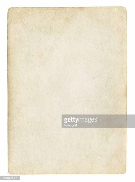 Alte leere Papier