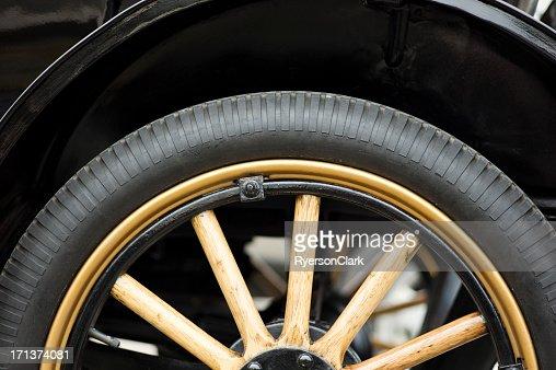 Antique Auto Wheel and Tire.