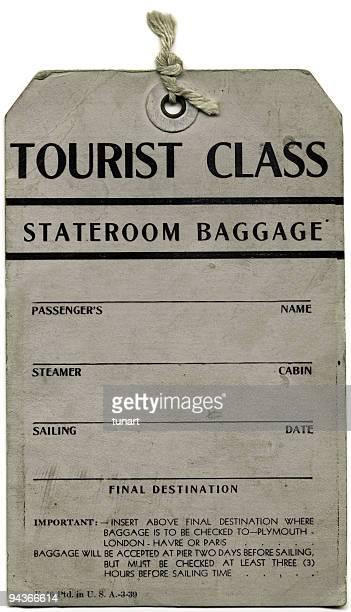 Antikes Gepäck Ticket Eine transozeanische Dampfkochtopf