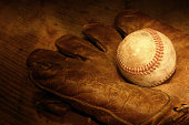Antique Baseball and Glove