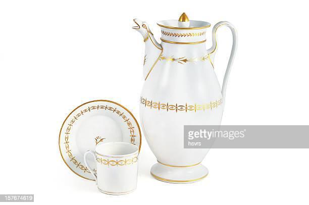 Antiken biedermeier 1815-1840 (Zeit) Kaffeekanne mit Löwenkopf-Tüll