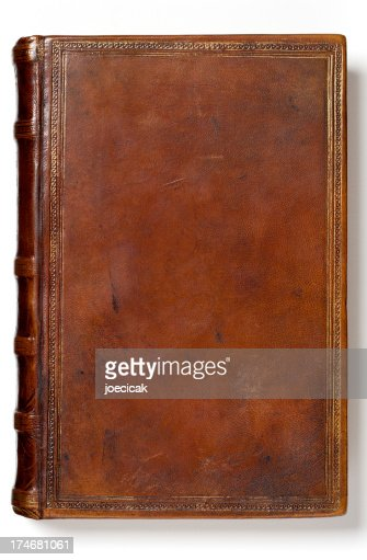 Old Book Cover Plain ~ Antique blank book stock photo getty images