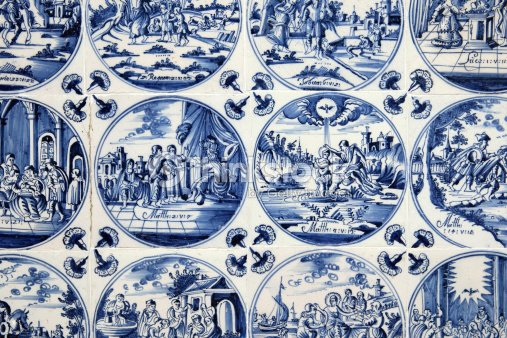 Anciens Carreaux De Delft Blue Photo Thinkstock