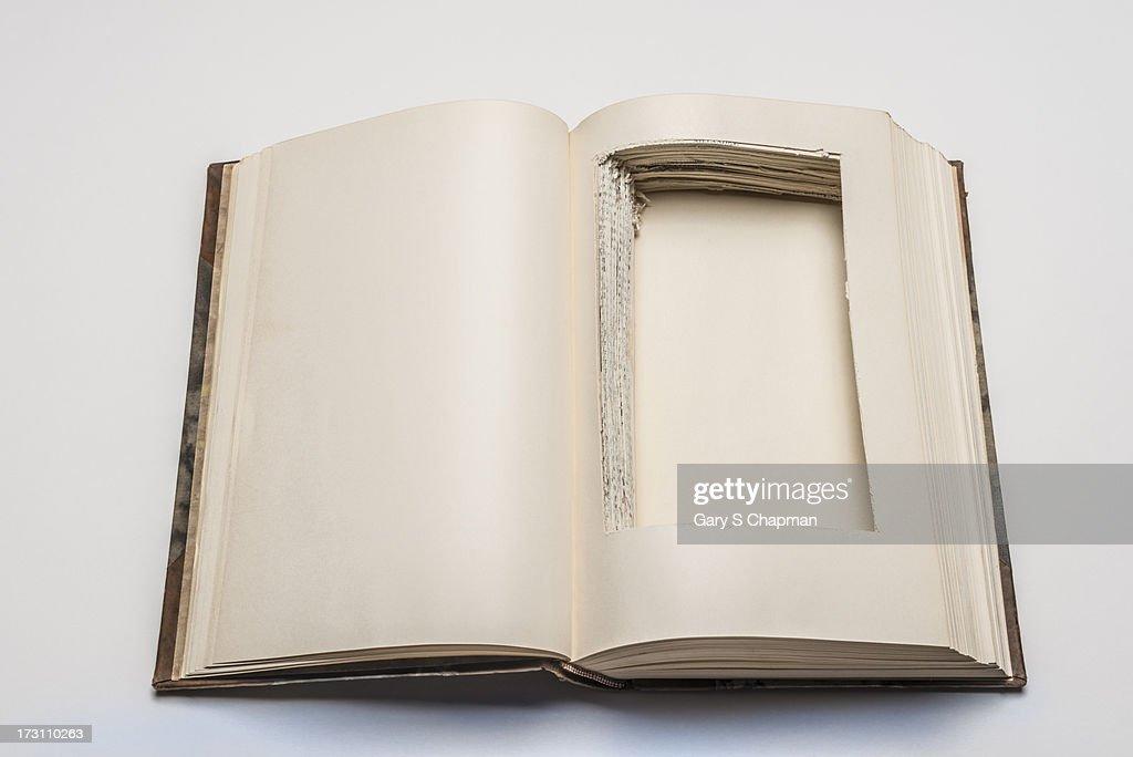 Antique book with secret compartment
