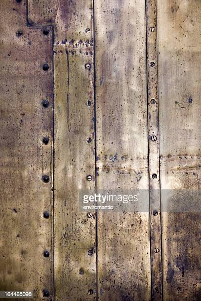 Antique brass plate background.