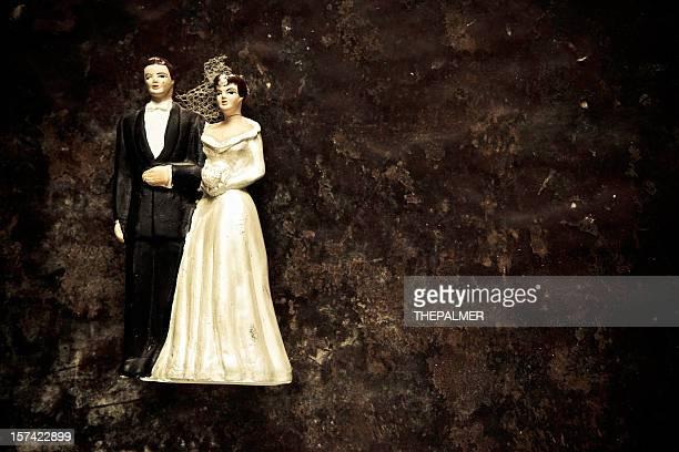 Antikes Hochzeitstorte Figurinen