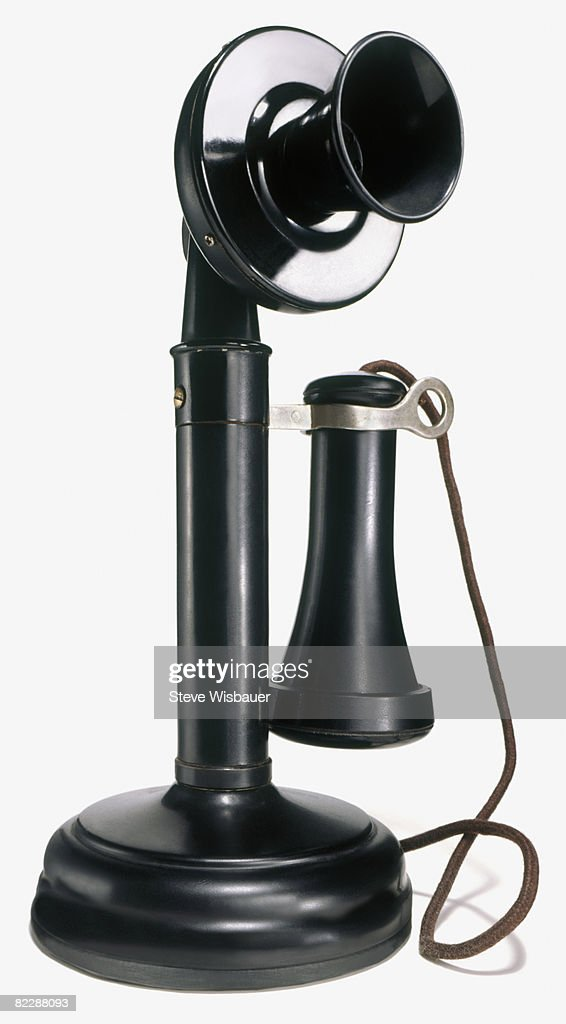 Antique candlestick telephone : Stock-Foto