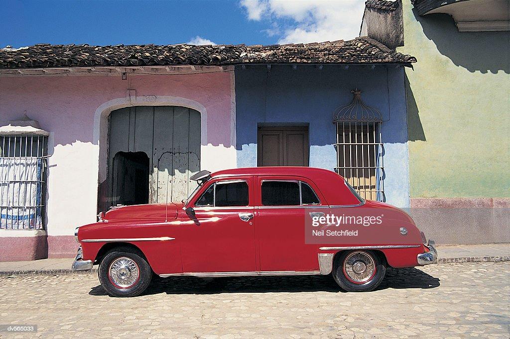 Antique Car in Havana : Stock Photo