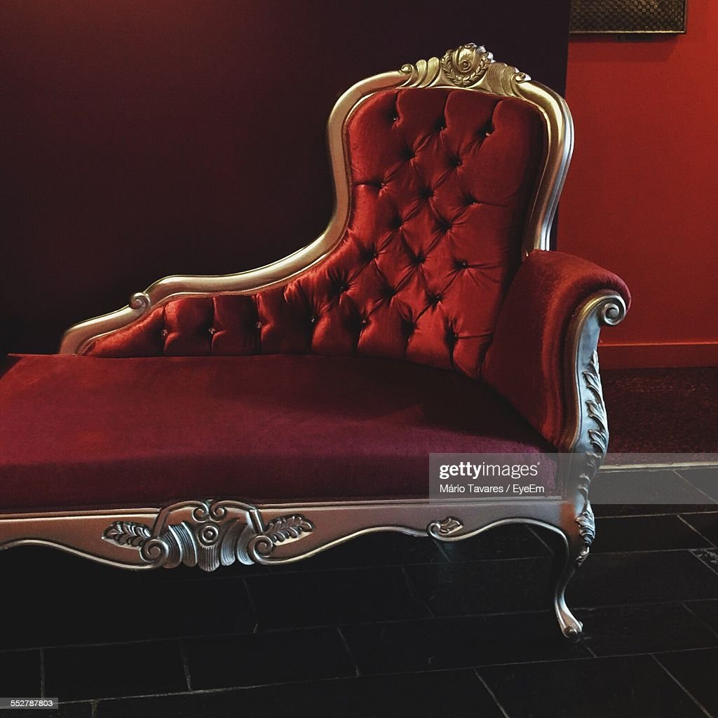 Antique Chaise Longue In Palace Stock Photo  Getty Images
