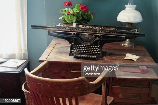 - Antique Desk And Typewriter Stock Photo Getty Images
