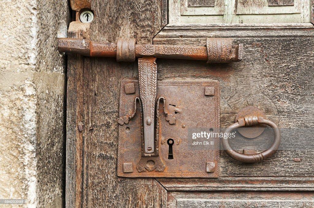 antique door locks. antique door lock stock photo locks