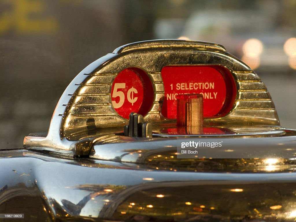 Antique five cent Jukebox : Stock Photo