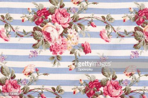 Antique Floral Fabric SB30 Close Up