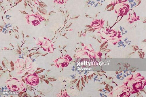 Antique floral fabric SB37 close up