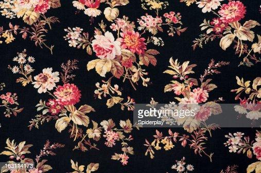 Antique Floral Fabric SB40 Close Up