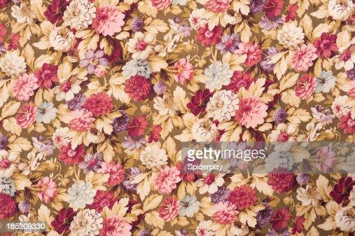 Antique Floral Fabric SB50 Close Up