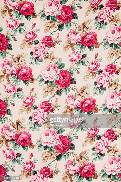 Antique floral fabric Wide