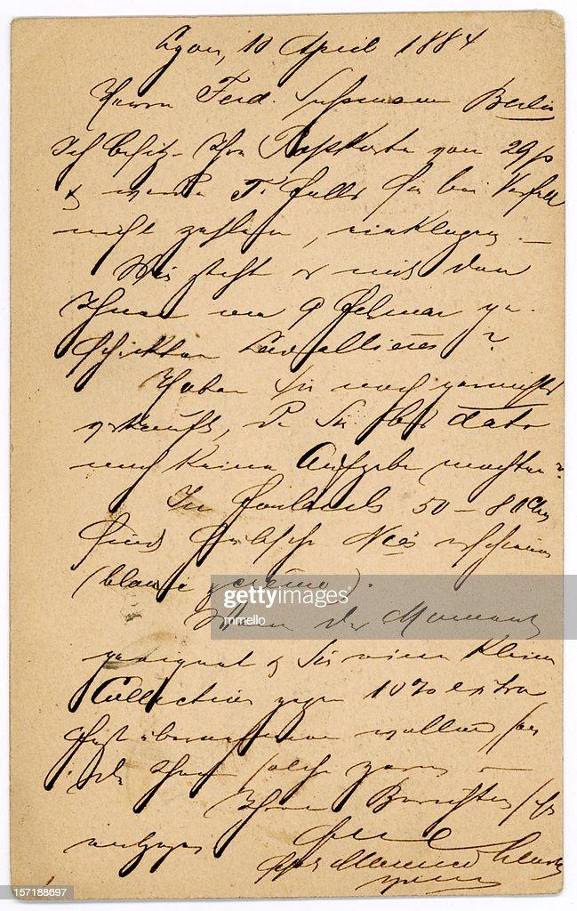 Antiken französischen Buchstabe Handschrift alte Postkarte : Stock-Foto