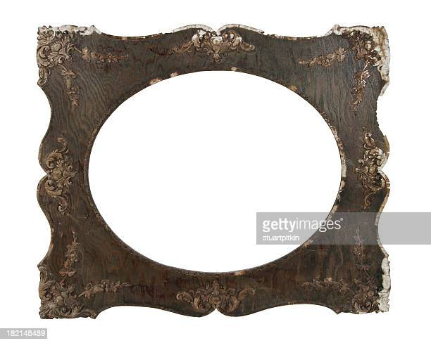 Antique French wooden picture frame.