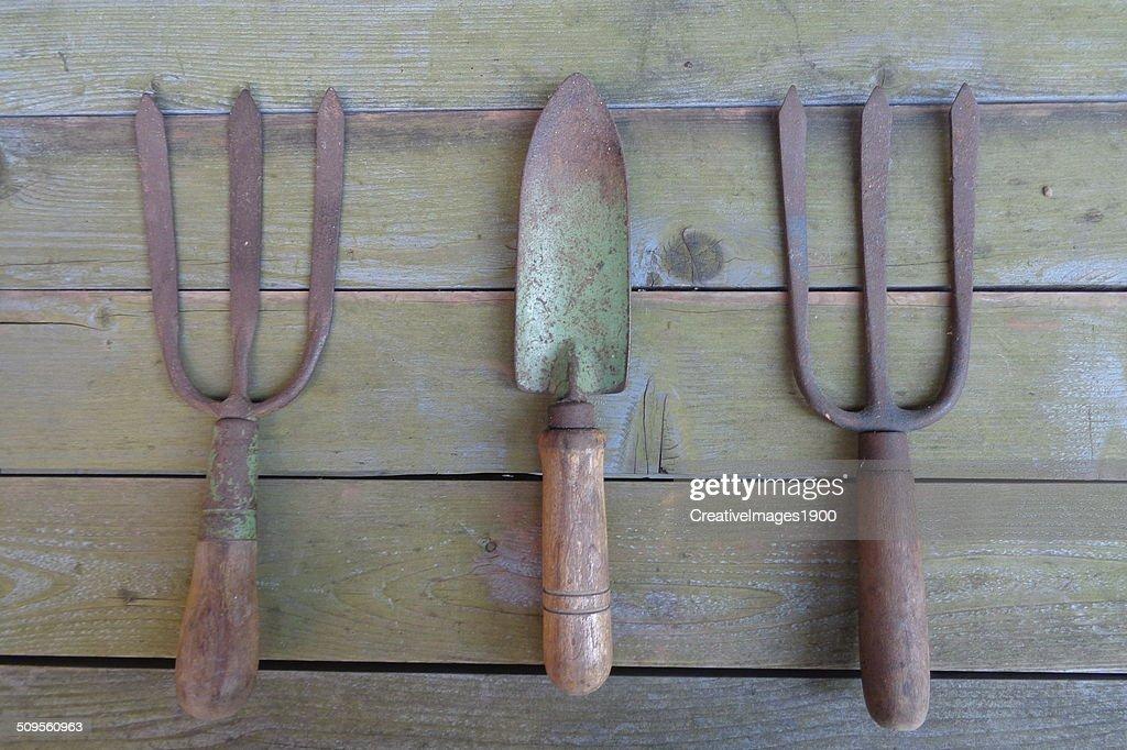 Antique Gardening Tools : Stock Photo