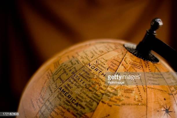 Antique Globe of North America