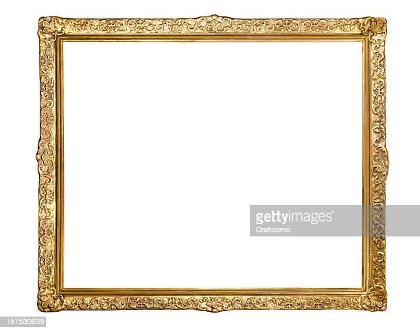 Cadre doré Antique isolé sur blanc