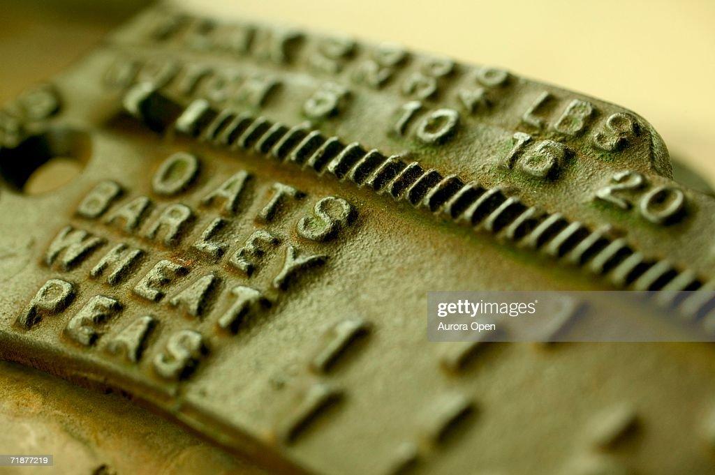 Antique iron scale. : Stock Photo