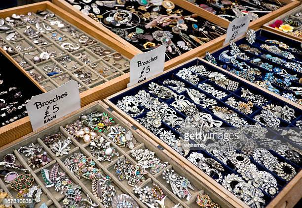 Antique jewellery stall