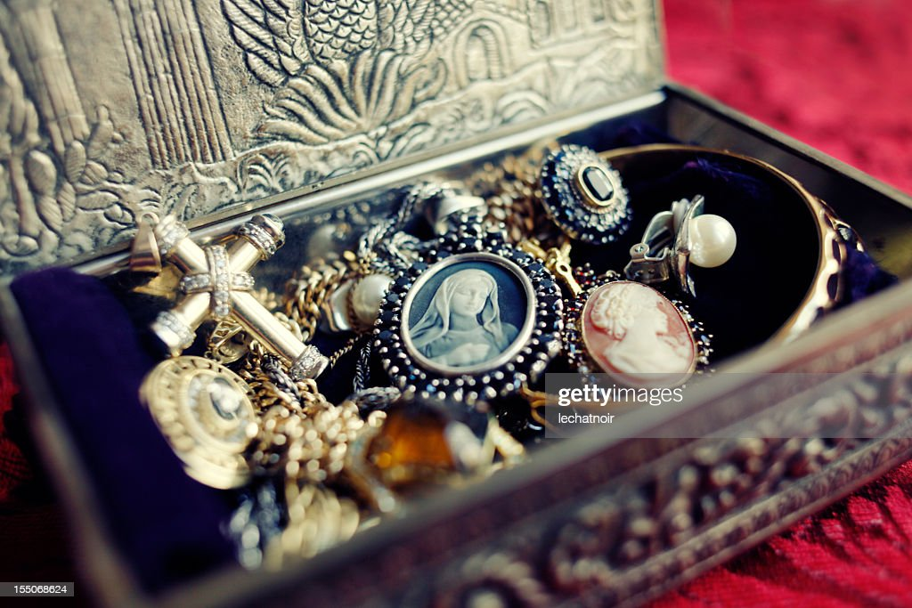 Antique Jewelry Box : Stock Photo