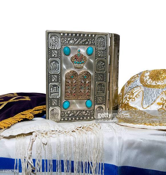 Antique Bible juive, Yarmulka & Tallis